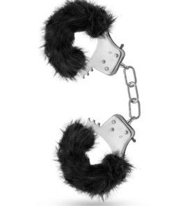 Temptasia Plush Fur Cuffs - Black