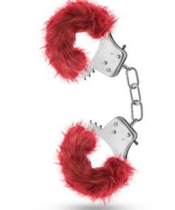 Temptasia Plush Fur Cuffs - Burgundy