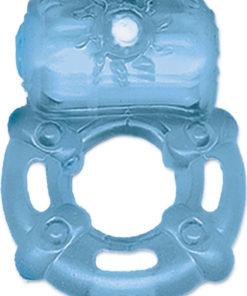 The Macho Nite Lights Vibrating Cock Ring - Blue