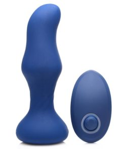 Thump-It Rechargeable Silicone Thumping Slim Curved Plug - Black