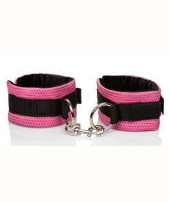 Tickle Me Pink Universal Cuffs Velcro Adjustable Pink