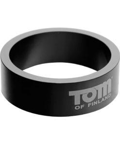 Tom Of Finland 50mm Aluminum Cock Ring - Gray