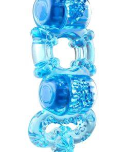 Tri-O Triple Pleasure Ring - Blue