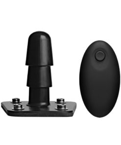 Vac U Lock Vibrating Plug With Wireless Remote USB Rechargeable Harness Accessory Black