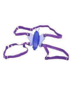 Venus Butterfly Mini Wireless Strap-On - Purple