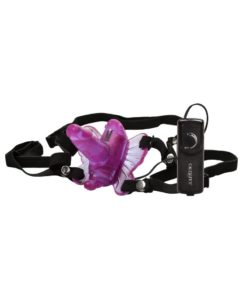 Venus Butterfly Venus Penis Butterfly Strap-On With Remote Control - Pink