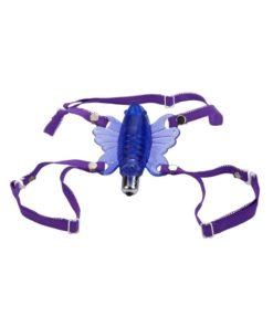 Venus Butterfly Wireless Strap-On - Purple