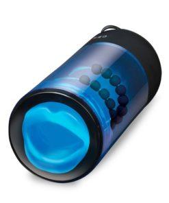 Zolo Blowpro Vibrating Simulator Masturbator With Bullet - Blue/Black